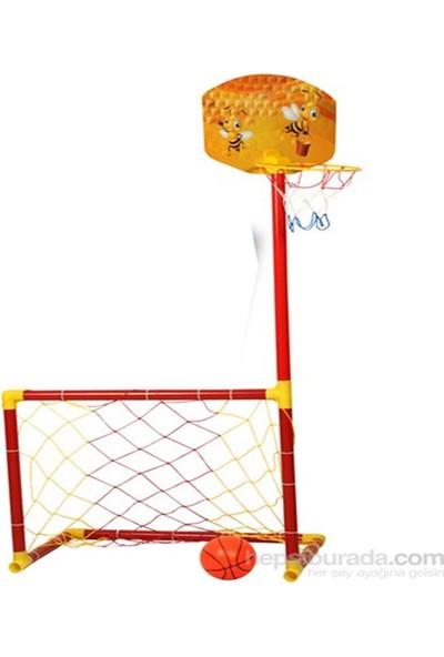 Matraks Cocuklar İçin Basketbol Potalı Futbol Kalesi