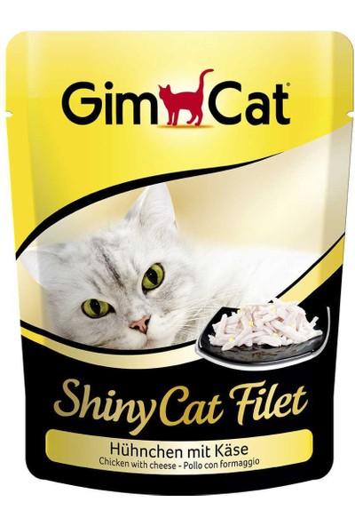 Gimcat Shinycat Pouch Tavuklu Peynirli Kedi Maması 70Gr