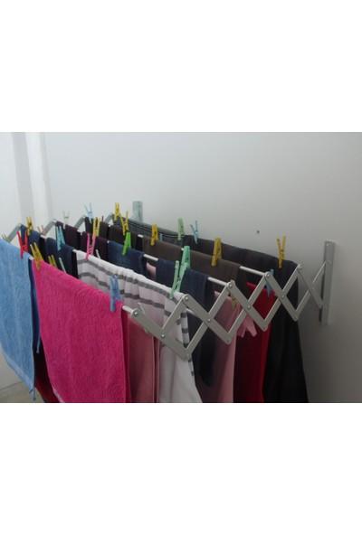 As Çamaşırlık Akordiyon Katlanabilir Çamaşır Kurutma Askısı 9 Çubuk Askılı