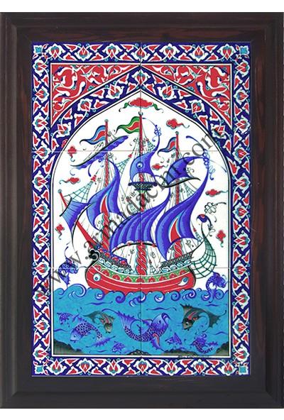 Armada Çini 40 x 60 Cm Ed 501 Osmanlı Kalyon Eldekoru Çini Pano