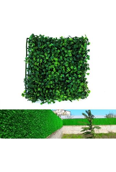 Badem10 Yapay Duvar Süsü Sarmaşık Yonca Bahçe Çiti - Çim Şimşir 25 x 25 cm