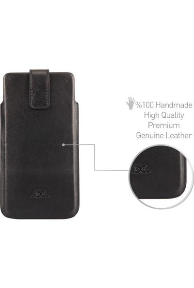 Dc Vega Deri Çekmeli Kartlıklı Universal Kılıf ( XL )