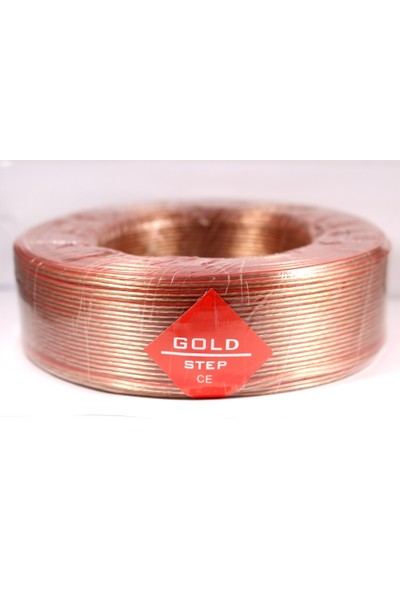 Gold Step 100 Metre 2 x 0,75 Hoparlör Ve Elektrik Kablosu