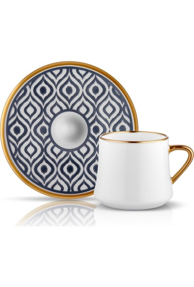 Koleksiyon Sufı Çay Fincan Seti 6Lı Ikat Antrasıt