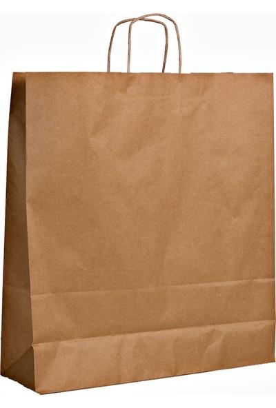 Menteşoğlu Kağıtçılık Naturel Kraft Kağıt Poşet 40 x 50 x 13 cm 50 adet