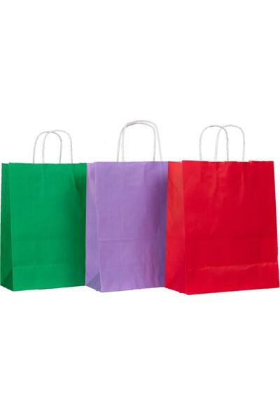 Menteşoğlu Kağıtçılık Beyaz Kraft Kağıt Poşet 25 x 31 x 12 cm 50 adet