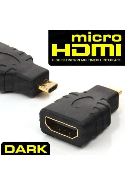 Dark Micro HDMI M to HDMI F Dönüştürücü Cep Telefonu, Tablet, Ultrabook, Kamera için (HDMI Dişi - Micro HDMI Erkek)( DK-HD-AHDMIXMICRO)