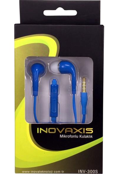 Inova Mikrofonlu Kulaklık (Samsung, Sony, Lg, Htc, Evrensel) Mavi
