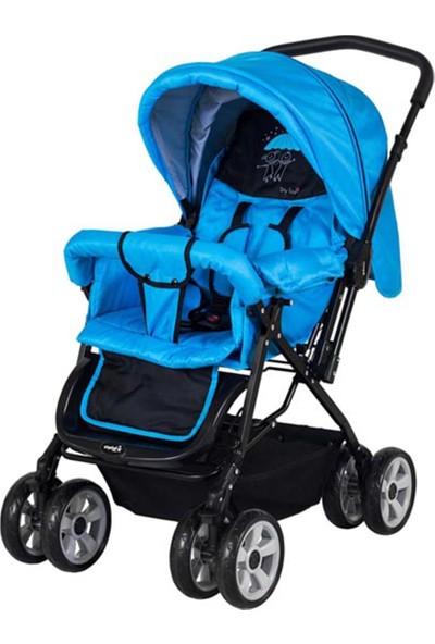 Crystal Baby 212 Mega Baston Bebek Arabası - Mavı