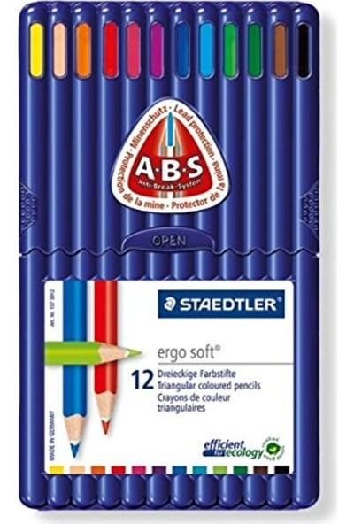 Staedtler Ergo Soft Kuruboya 12 Renk + Çanta Hediyeli
