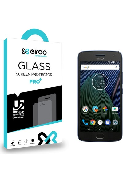 Eiroo Motorola Moto G5 Plus Tempered Glass Cam Ekran Koruyucu