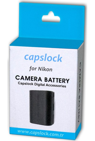 Nikon En-El3E Capslock Batarya