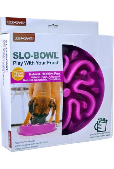 Dog Games Slo-Bowl Yavaş Yeme İçin Köpek Mama Kabı 4 Kap Mor