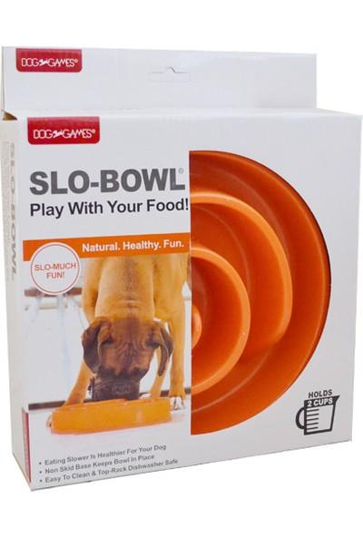 Dog Games Slo-Bowl Yavaş Yeme İçin Köpek Mama Kabı 2 Kap Turuncu