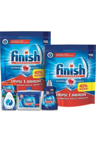 Finish Bulaşık Makinesi Deterjanı Tablet 220 Yıkama + Parlatıcı + Makine Temizleyici + Makine Kokusu