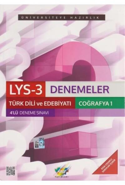 FDD LYS-3 Denemeler Türk Dili ve Edebiyatı Coğrafya-1 4'lü Deneme Sınavı