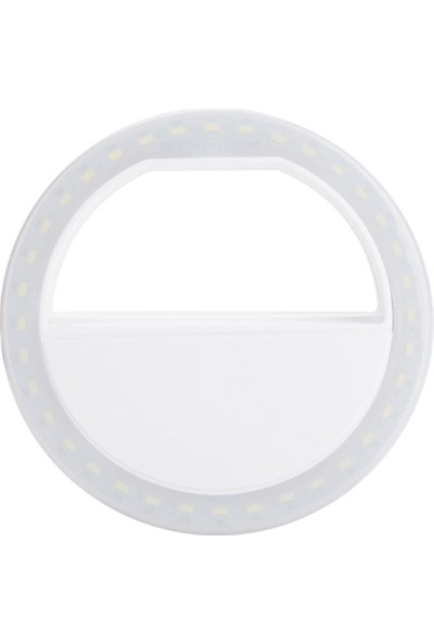 Bluecat Pilli Harici Selfie Flaş Işığı Flash Light - Beyaz
