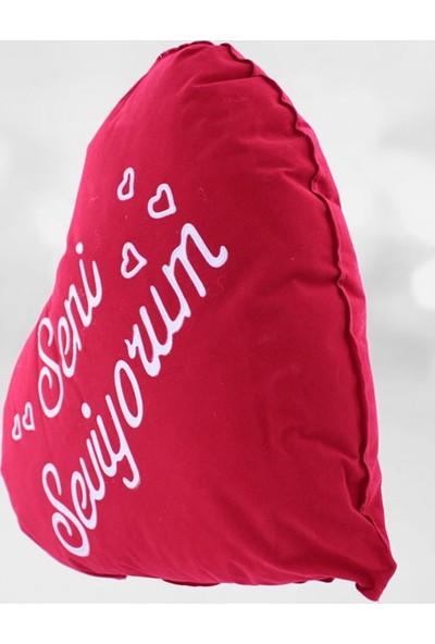 Kare Dekor Seni Seviyorum Yastık 60X46 CM