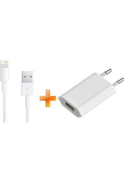 Maximrollon Apple Usb Adaptör + Lightning Data Kablosu (Apple iPhone 5/5s/SE/6/6s/7 / Plus / iPod / iPad)