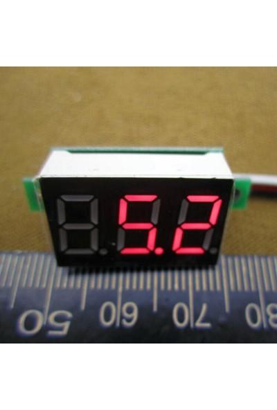 Dijital Mini Voltmetre Dc 0V 100V Gerilim Voltaj Ölçer