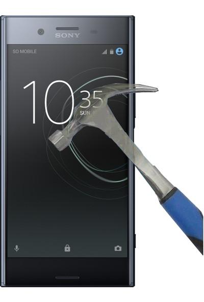 Teleplus Sony Xperia XZ Premium Plastik ve Cam Ekran Koruyucu Karışımı Cam Ekran Koruyucu