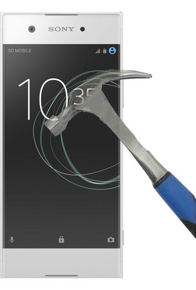 Teleplus Sony Xperia XA1 Plastik ve Cam Ekran Koruyucu Karışımı Cam Ekran Koruyucu