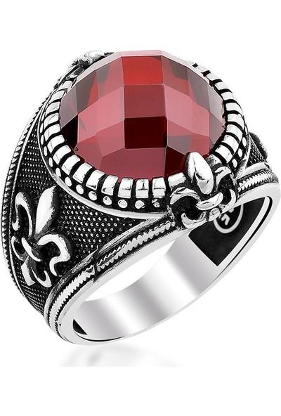 Takıhan Kırmızı Zirkon Taşlı 925 Ayar Gümüş Yüzük