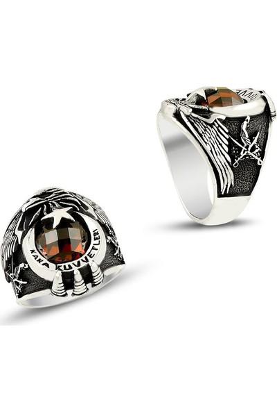Takıhan 925 Ayar Gümüş Kartal Başlı Kara Kuvvetleri Yüzüğü
