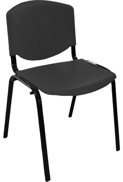 Türksit Form Plastik Sandalye Siyah 2'Li