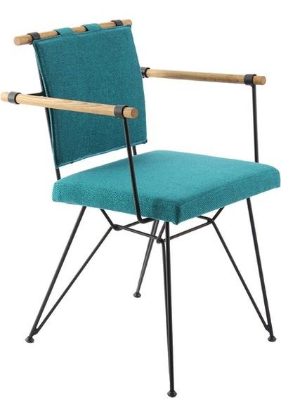 Ak Sandalye Endüstriyel Apyzt Metal Ahşap Sandalye