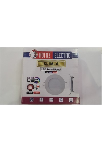 Horoz Slim-6 6 Watt 6400 Kelvin Led Panel Sıva Altı Spot 6W