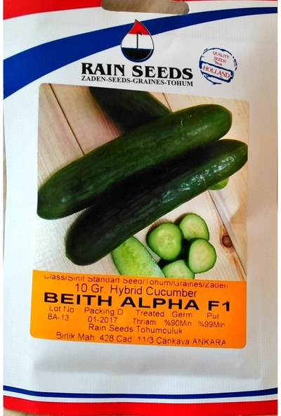 Rainseed Beith Alpha F1 Hıyar Tohumu 10 Gr