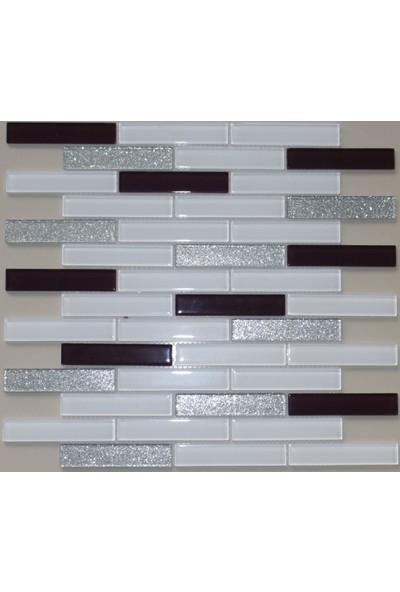 Mcm Mutfak Tezgah Arası Kristal Cam Mozaik 15X73X04 MP 470