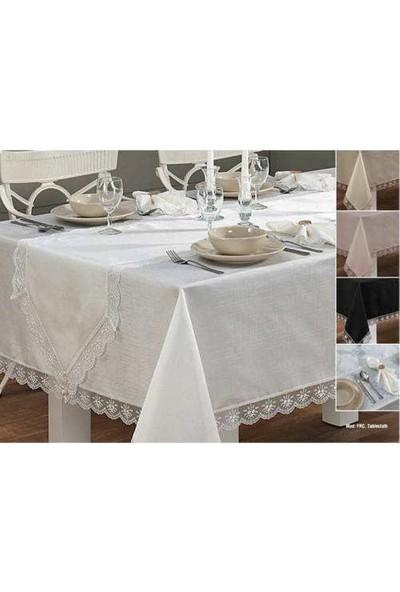 Fransız Güpürlü Masa Örtüsü Seti