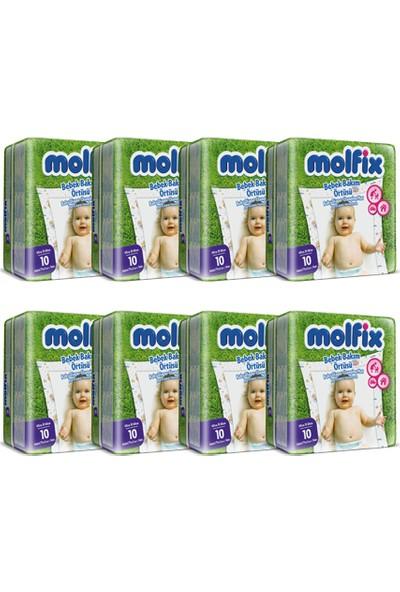 Molfix Bebek Bakım Örtüsü 10'lu 8 Adet