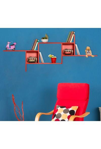Adore Dekoratif Duvar Rafı Takımı - Kırmızı