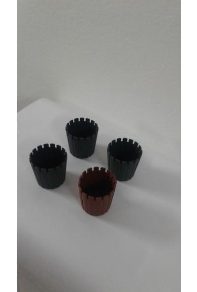 Arslan Plastik Mini Kaktüs Saksısı 6*6 Cm- 4 Adet
