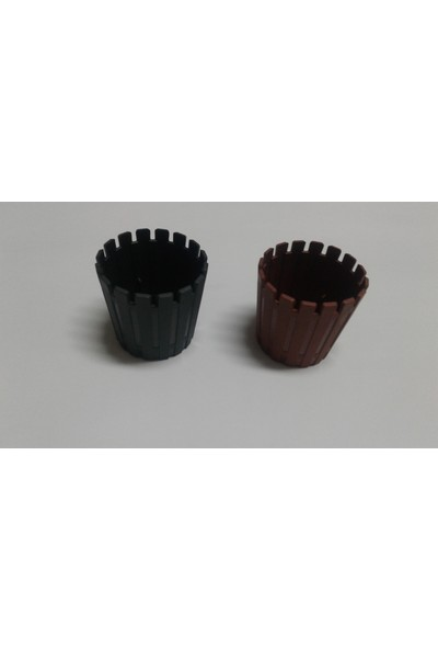 Arslan Plastik Mini Kaktüs Saksısı 6*6 Cm- 2 Adet