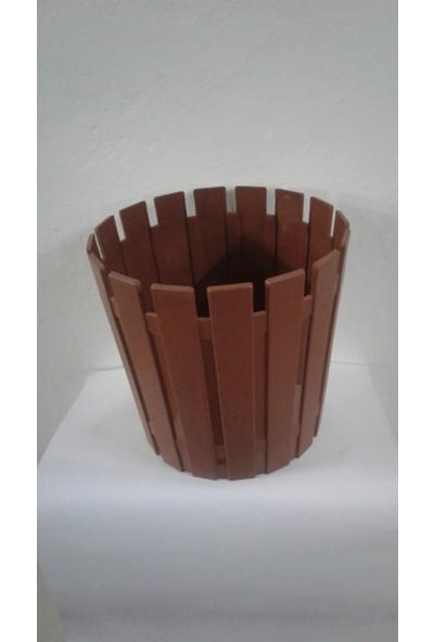 Arslan Plastik Çiçek Ve Bitki Saksısı Kahverengi 16 Lt