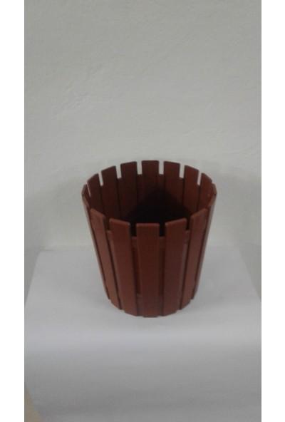 Arslan Plastik Çiçek Ve Bitki Saksısı Kahverengi 8 Lt