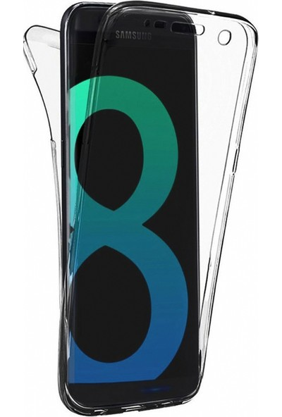 Eiroo Protection Samsung Galaxy S8 Plus 360 Derece Koruma Şeffaf Silikon Kılıf