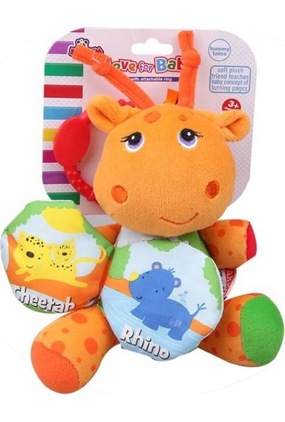 Vardem Çıngıraklı Sevimli Zürafa (Kitapçıklı) (Kumaş)