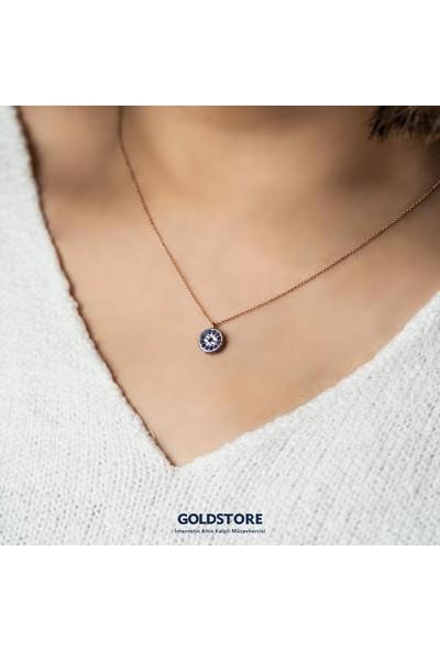 Goldstore 14 Ayar Altın Nazar Göz Kolye Gp40625