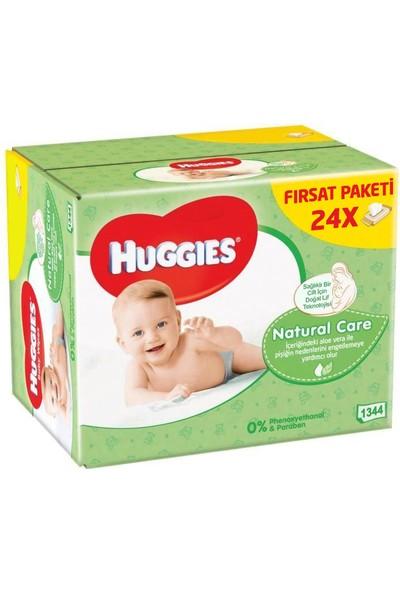 Huggies Islak Havlu Doğal Bakım 56'lı x 24 Adet (1344 Yaprak)