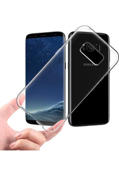 Case 4U Samsung Galaxy S8 Plus Kılıf Ultra İnce Silikon Şeffaf