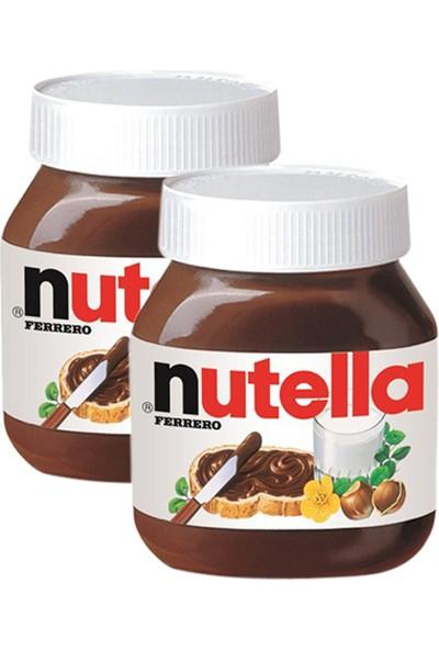 Nutella 750 gr Kakaolu Fındık Kreması x 2 Adet