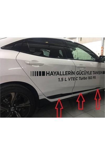 Honda Civic 2016-2017 FC5 Siyah Kapı Çıtası