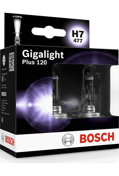 Bosch H7 Gigalight Plus 120 Ampul Seti