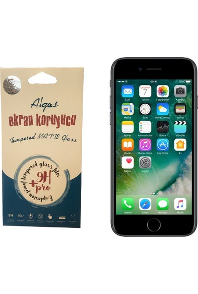Case Man Algos Apple iPhone 7 Mat 9H Temperli Ekran Koruyucu