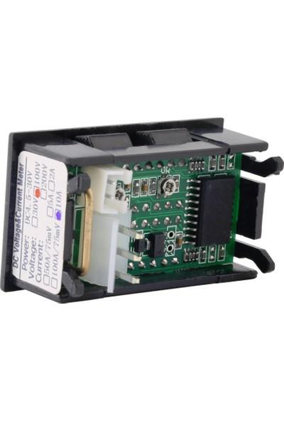 Dijital Voltmetre Dijital Ampermetre Dual DC 0-100V 10A